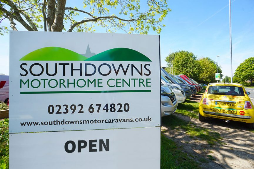Southdowns Motorhome Centre - Outside Sign